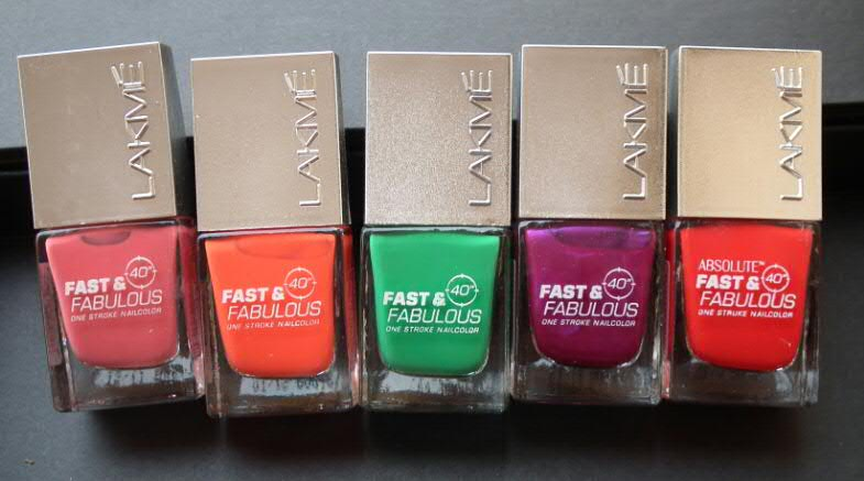 Lakme Absolute Collection Fast and Fabulous Nail Paints come in over 30  shades varying from creamy 6c02a11036b65