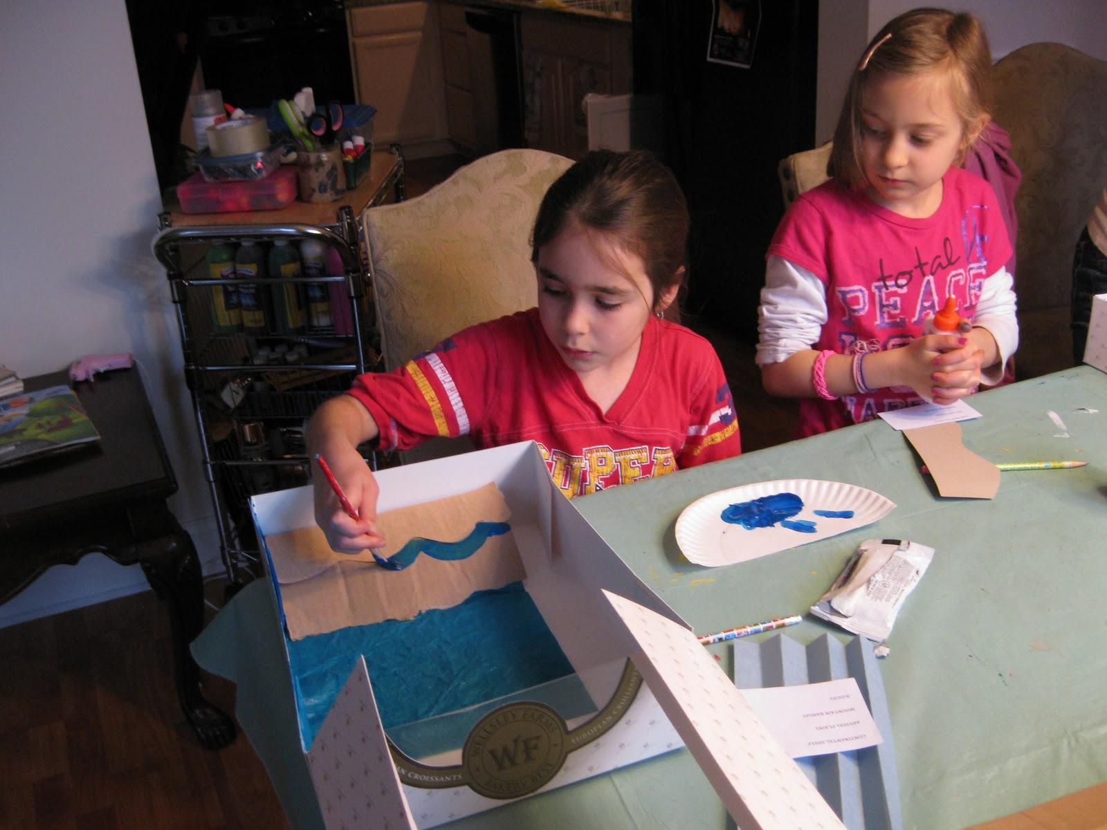 Kids Imitate Mom Eating Healthy Food Cartoon Pic
