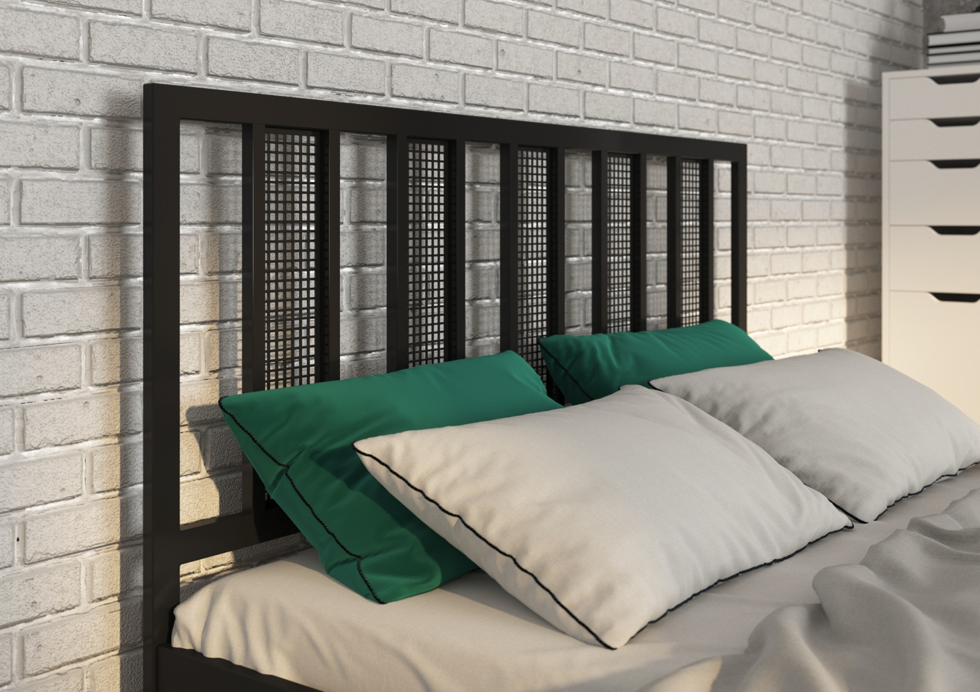 Łóżko metalowe Rio (wzór 16) (140-180 cm)