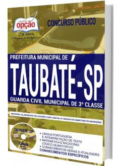 Apostila Concurso Prefeitura de Taubaté 2018 Guarda Civil Municipal