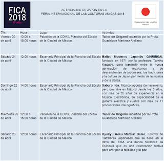 Actividades de Japón en FICA 2018