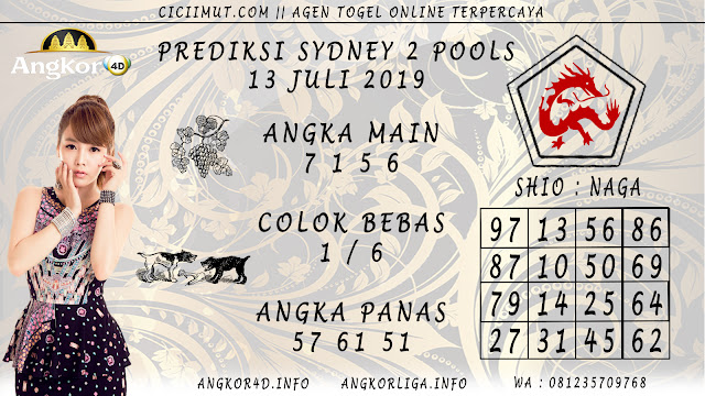 PREDIKSI SYDNEY 2 POOLS 13 JULI 2019