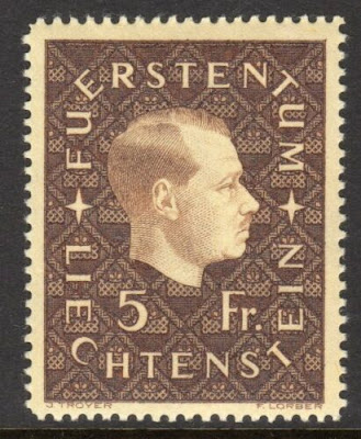 Liechtenstein 1939 5 Franc Prince Franz Joseph II