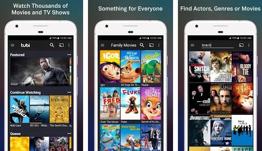 تطبيق Tubi TV يتيح لك مشاهدة المسلسلات و الأفلام مجانا على هاتفك الاندرويد و الايفون