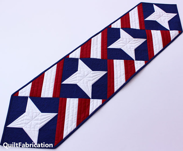 red white and blue tablerunner