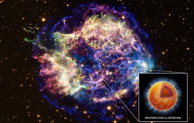 Το υπόλειμμα του υπερκαινοφανούς της Κασσιόπης (supernova remnant Cassiopeia A) και ο αστέρας νετρονίων του...