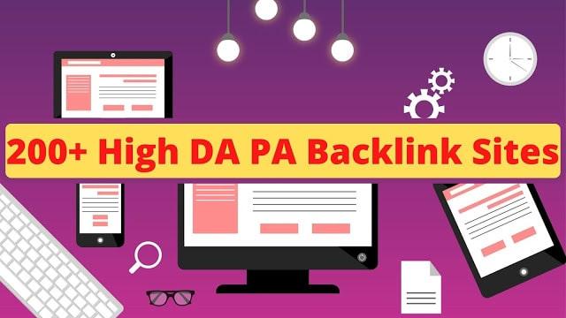 200+ High DA PA Backlink Websites List 2021
