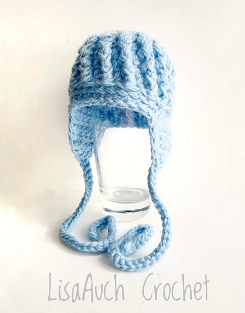 crochet earflap baby hat free crochet pattern
