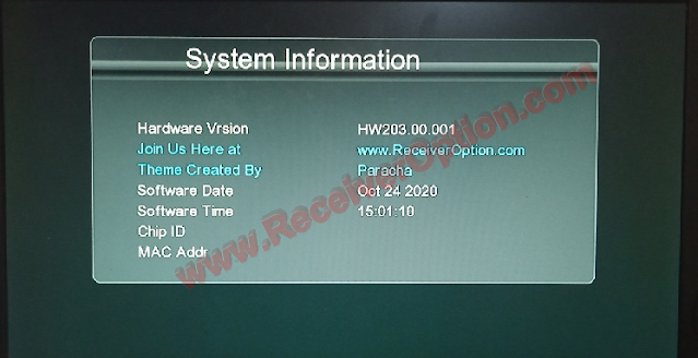 ALL GX6605S HW203 VERSION NEW SOFTWARE 24 OCTOBER 2020