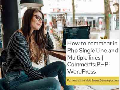 How to comment in Php