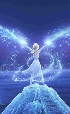 Elsa menunjukkan kekuatannya