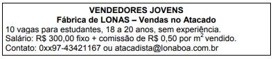 Vendedores Jovens