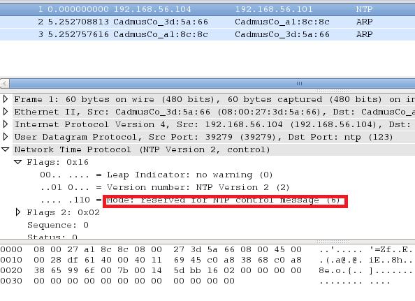 Binary analysis of NTP protocol