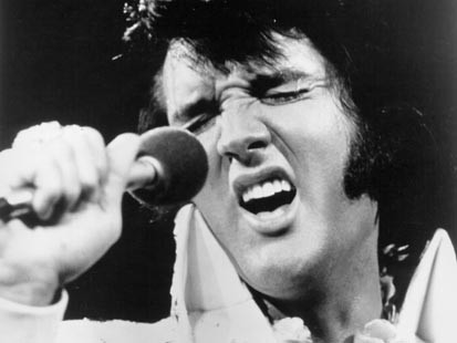 elvis with side burns