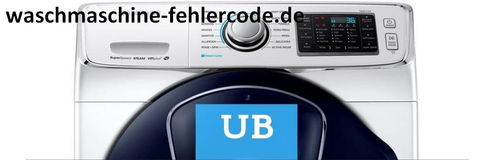 LG Waschmaschine Fehlercode Ub und UE - Wie man Fehlercodes löscht