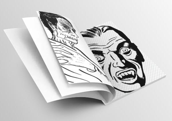 Ilustraciones de El Vampir en cuaderno