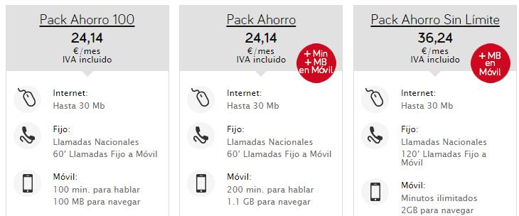 Pack ahorro Jazztel