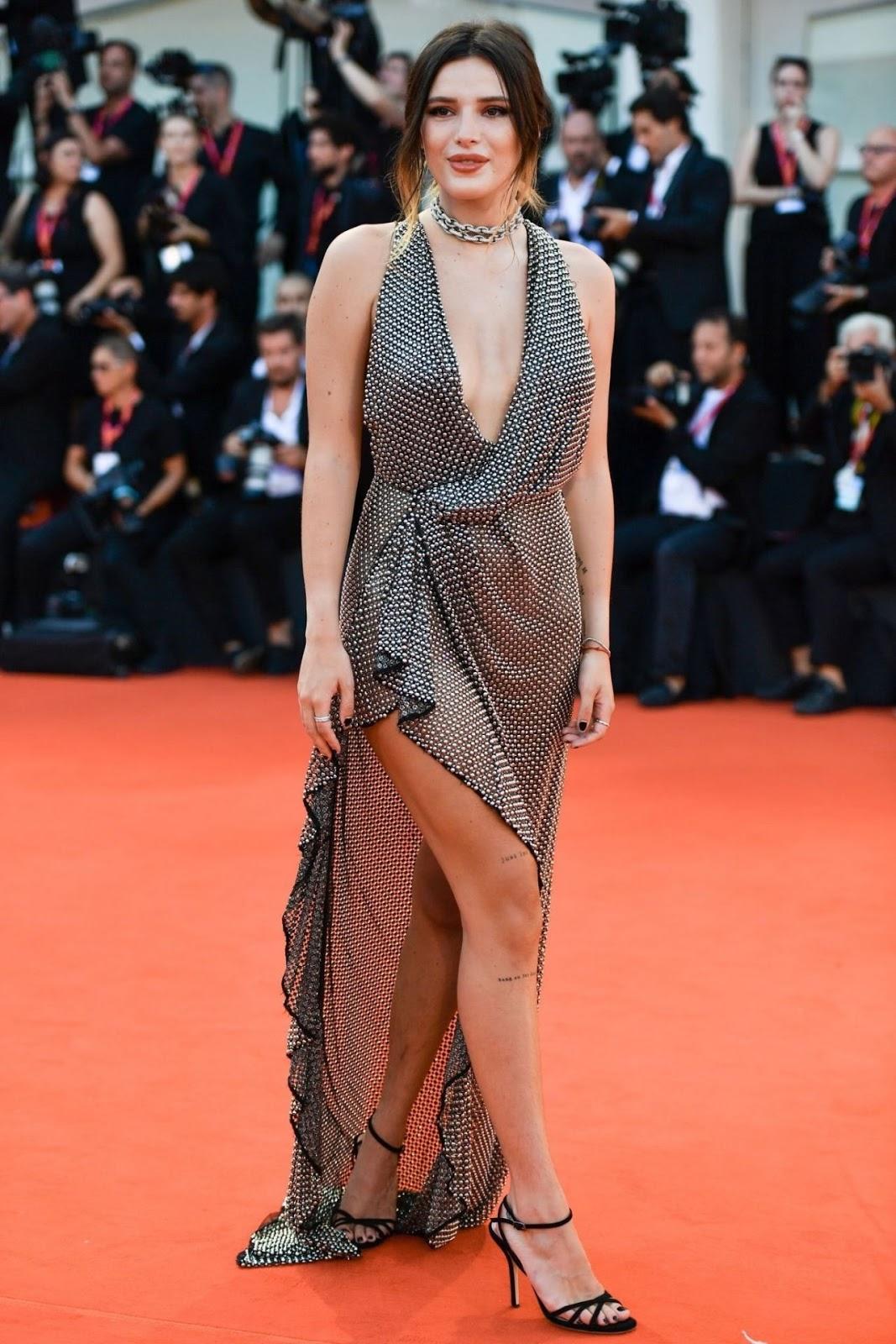 "Bella Thorne on Red Carpet – ""Joker"" Screening at the 76th Venice International Film Festival in Venice, Italy"