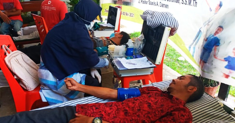 Hari Donor Darah Sedunia, PMKRI Palopo Lakukan Kegitan Donor Darah