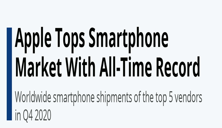 Apple Tops Smartphone Market With All-Time Record #infographic