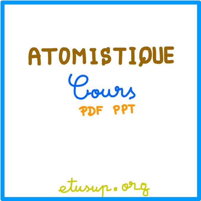 Atomistique pdf