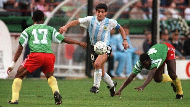 Maradona Hampir Gagal Main di Final Piala Dunia 1990