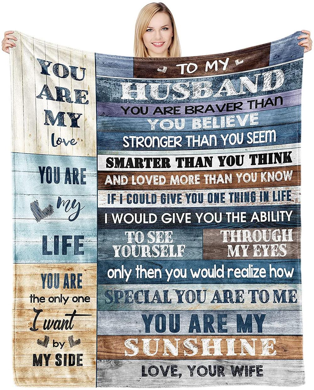 husband anniversary blanket gift