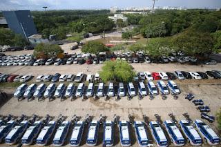 SSP entrega 165 novas viaturas à Polícia Militar da Bahia