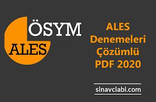 ALES Denemeleri Çözümlü PDF 2020