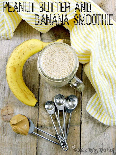 Peanut Butter and Banana Smoothie - A delicious breakfast alternative that brings together the classic combo of peanut butter and banana. By using peanut butter powder, the calories and fat are lower, and the protein is higher from www.bobbiskozykitchen.com