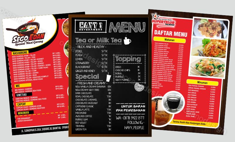 Banner Menu Makanan Dan Minuman - contoh desain spanduk
