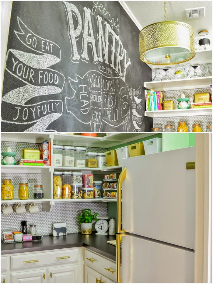 Modern Pantry Reveal | Featured at #themakerslinkparty