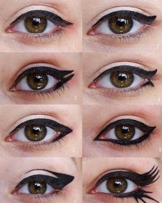 cola de gato maquillaje