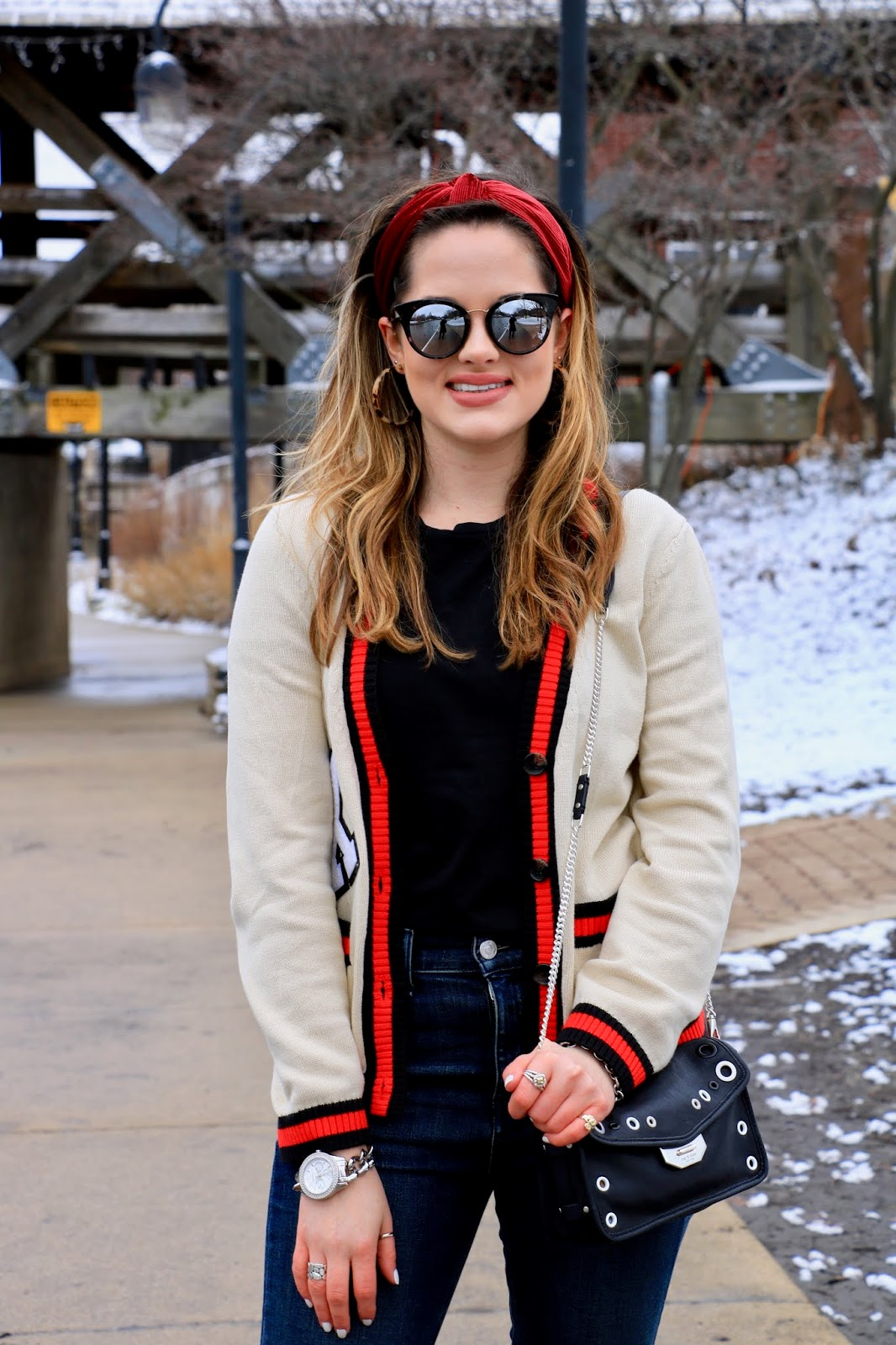 Nyc fashion blogger Kathleen Harper showing how to style a plain black tee