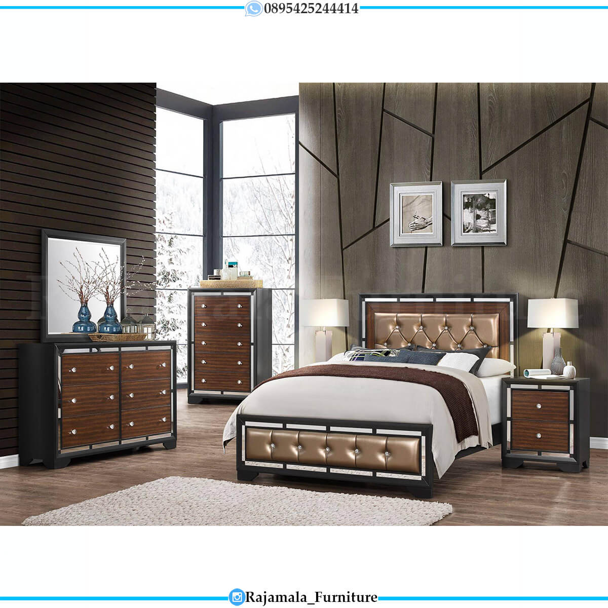 Beauty Desain Tempat Tidur Minimalis Jepara Luxury Type RM-0691
