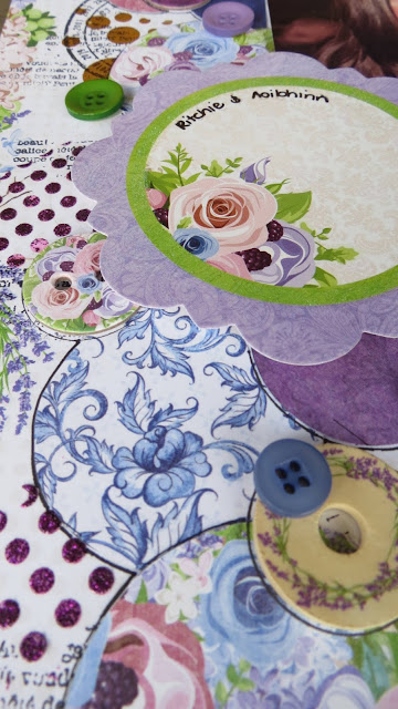 1 layout 3 ways by Megan Gourlay for BoBunny using Secret Garden