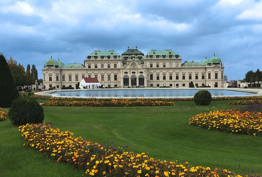 Belvedere in spring, Vienna