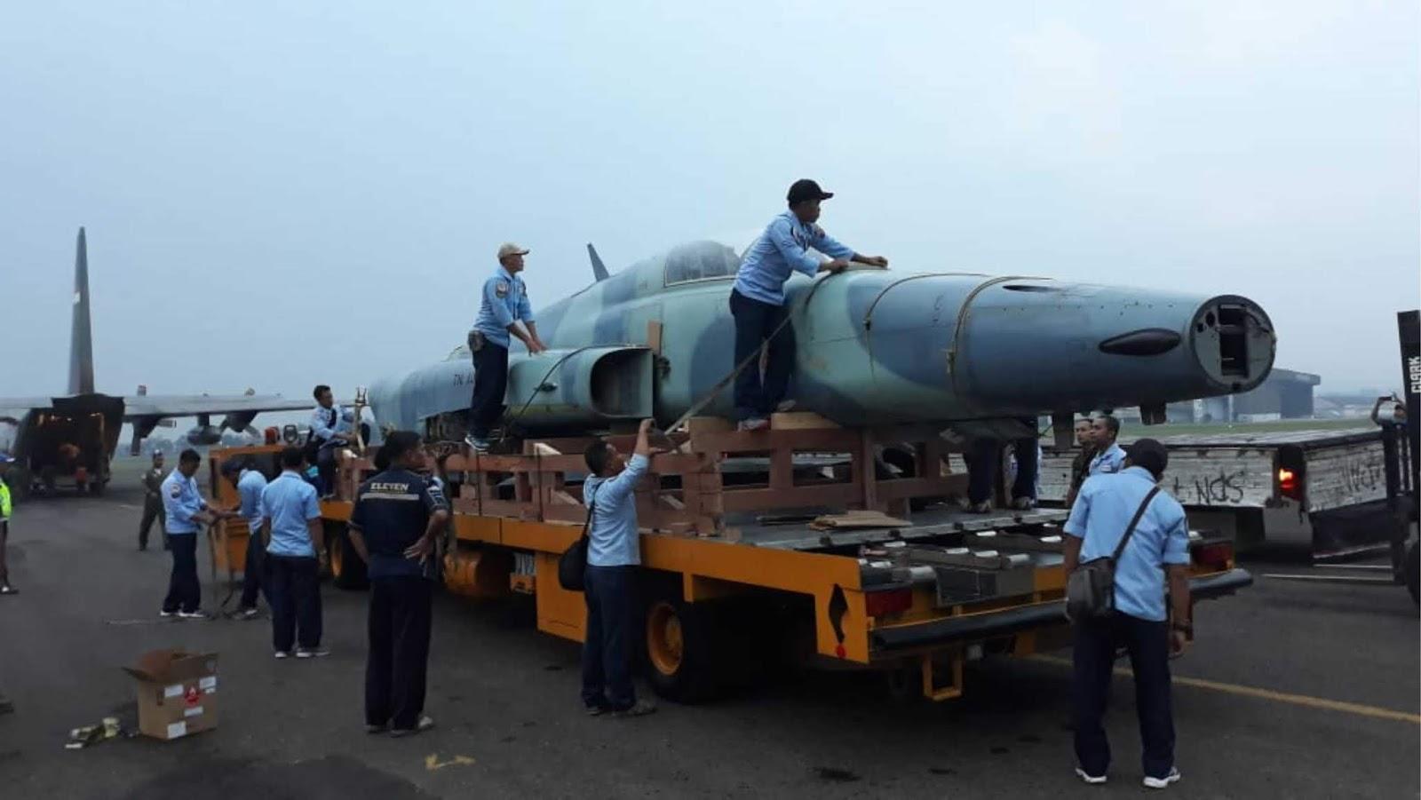 Rumah baru untuk si Macan, Pesawat F-5 E/F Tiger II Akhiri Pengabdiannya di Seskoau Lembang