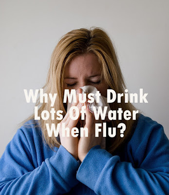 Drink plenty of water can help relieve mucus under the nose