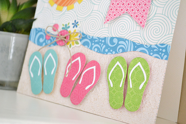 7c417d2734e70 ... die set that includes some adorable little flip flop dies. Check out  how I used them on this handmade summer card I created. When I look at  these little ...
