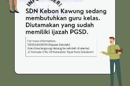 Lowongan Kerja SDN Kebon Kawung
