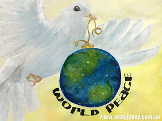 World Peace with Earth and a Dove