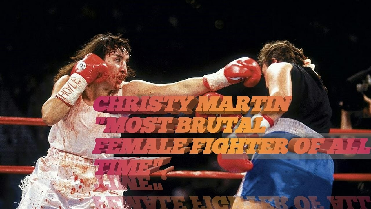 Christy Martin boxing