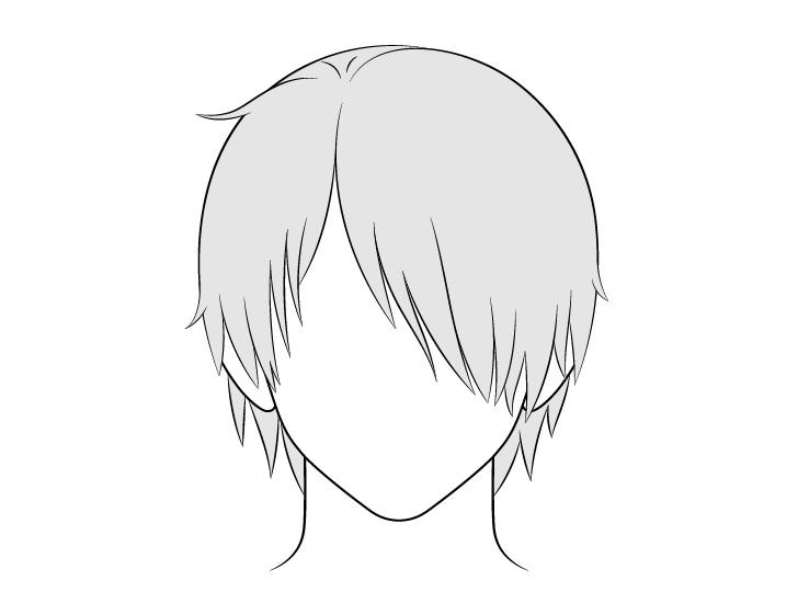 Rambut pria anime lebih dari satu gambar mata