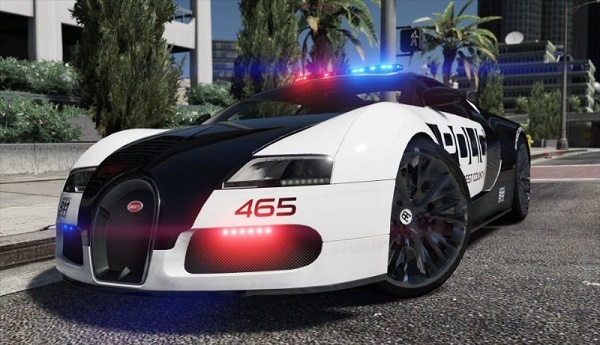 mobil polisi hot pursuit bugatti veyron gtaind mod gta v indonesia. Black Bedroom Furniture Sets. Home Design Ideas