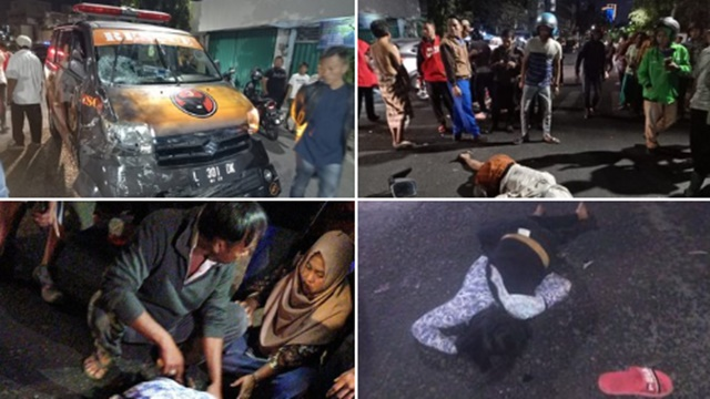 Mobil Rescue PDIP Tabrak Pemotor di Surabaya, 3 Orang Luka Berat