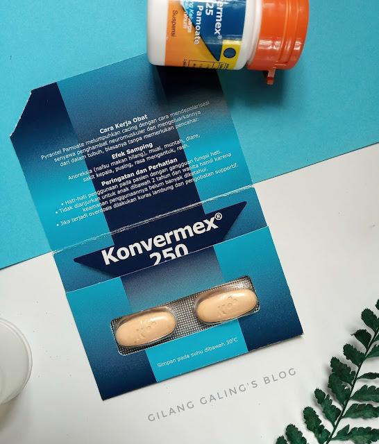 rutin minum obat cacing 6 bulan sekali Konvermex