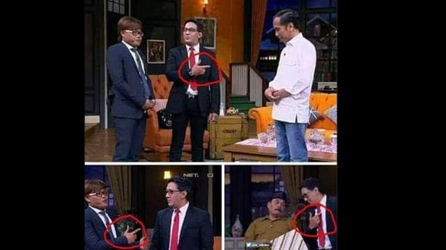 Jokowi Talkshow di NET TV, Netizen Bahas Gerak Tangan Sule dan Andre Bak Pose 2 Jari