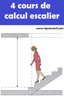 Cours de calcul et conception d'escalier en génie civil pdf