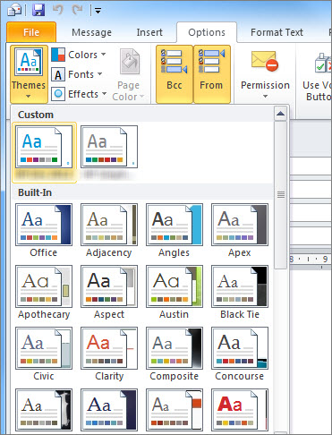 change Themes the window to Message Outlook 2010 - Ormnarch iT